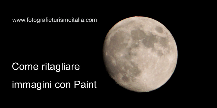 come ritagliare immagini con paint, video tutorial,