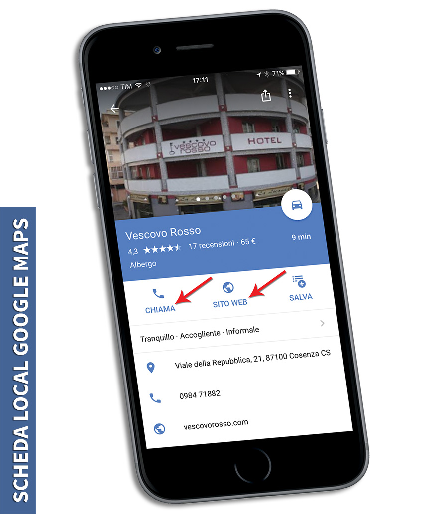 Virtual Tour Google, scheda local google maps da mobile, iphone 6.