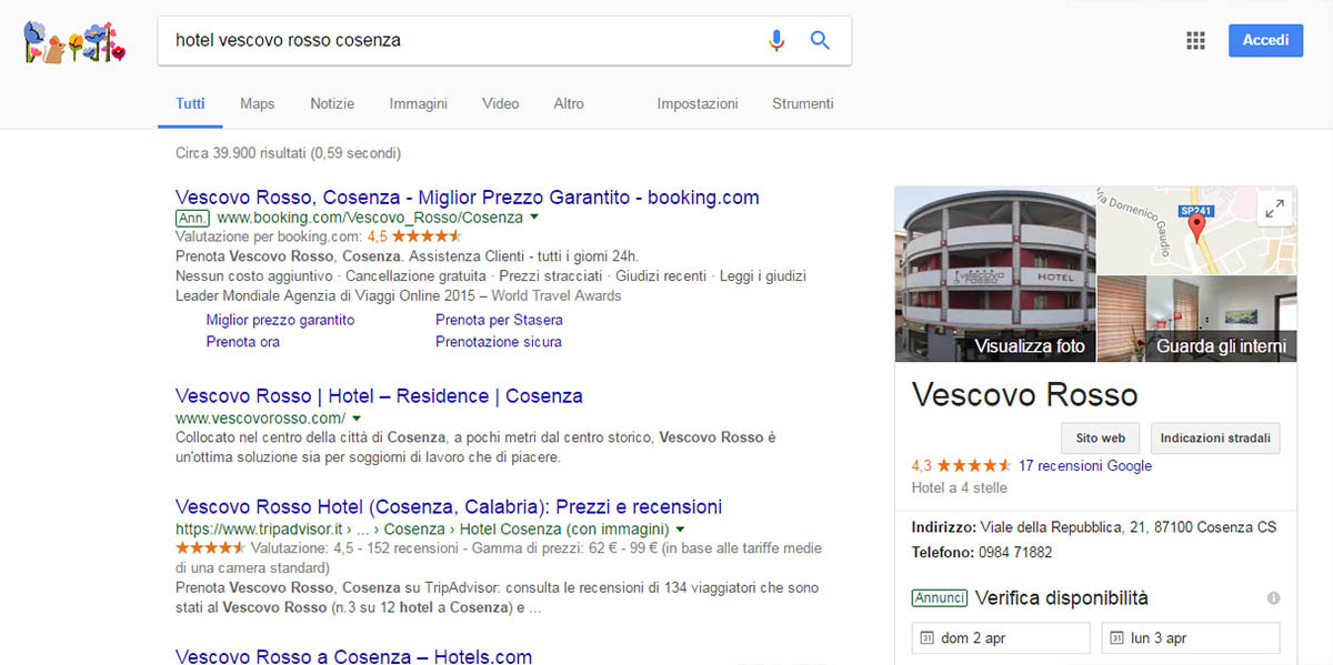 Virtual Tour Google, local serch.